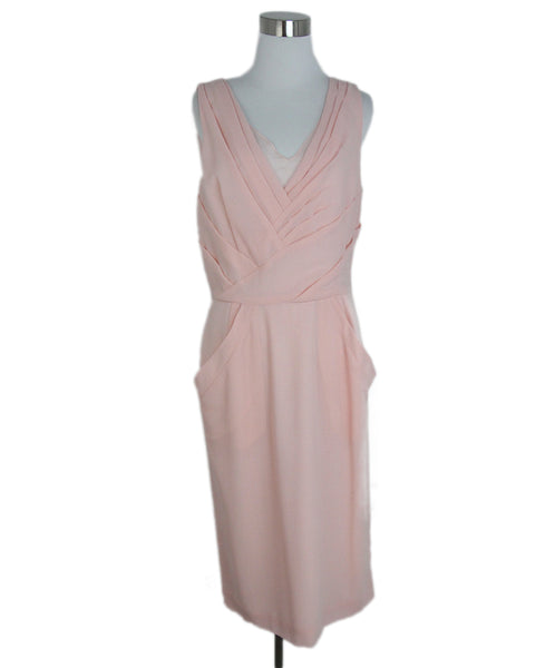 Oscar de la Renta Pink wool dress 1