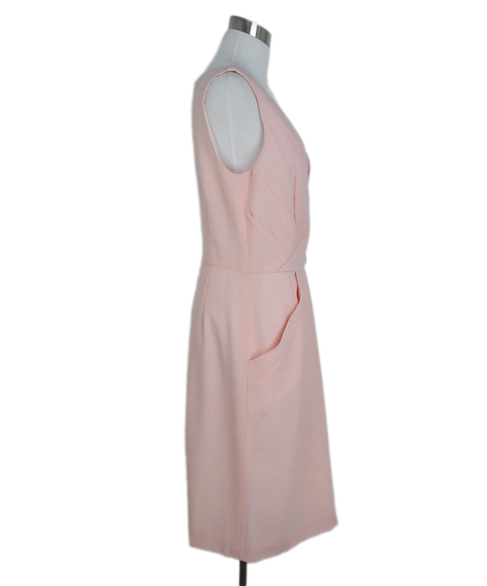 Oscar de la Renta Pink wool dress 2