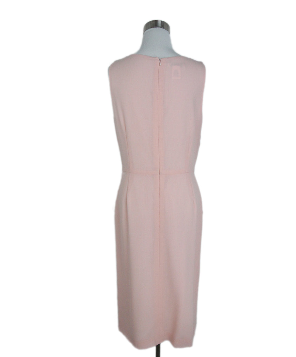 Oscar de la Renta Pink wool dress 3