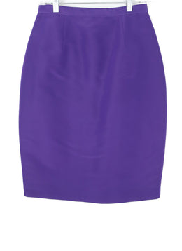 Oscar De La Renta  Purple Silk Skirt 1