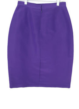 Oscar De La Renta  Purple Silk Skirt 2