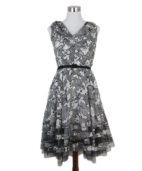 Oscar de la Renta black white tule dress 1