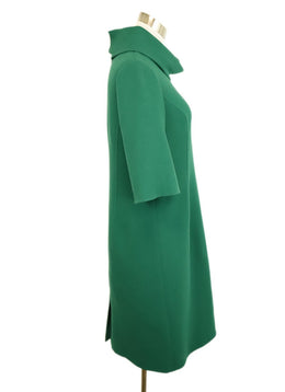 Oscar De La Renta Green Wool Dress 2