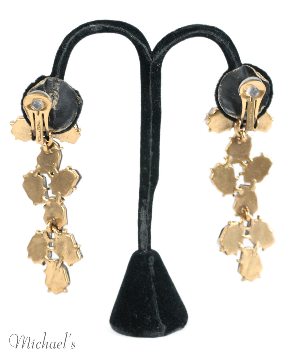 Oscar De La Renta Purple Stone Earrings - Michael's Consignment NYC  - 2