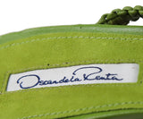 Oscar De La Renta Lime Braided Leather Heels 5