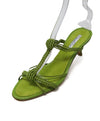 Oscar De La Renta Lime Braided Leather Heels 1