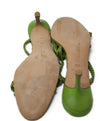 Oscar De La Renta Lime Braided Leather Heels 4
