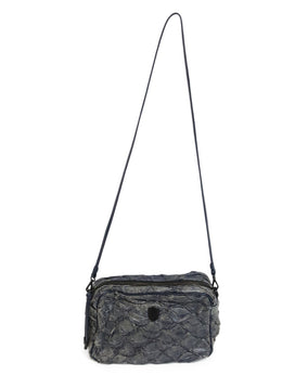 Osklen Rio Blue Grey Fish Leather Crossbody Bag 1