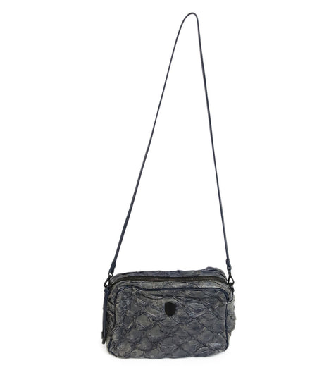 Gucci Grey Charcoal Brown Python Satchel Handbag