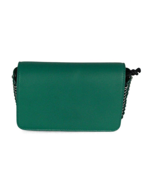 Paco Rabanne green leather silver hardware crossbody bag 1
