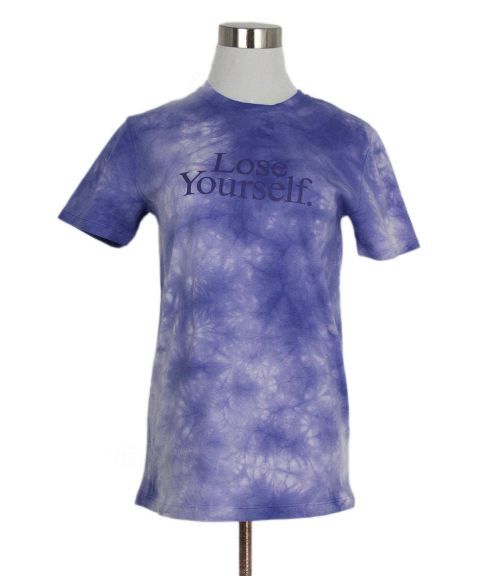 Paco Rabanne Purple Tie Dyed Cotton Top T-shirt 1