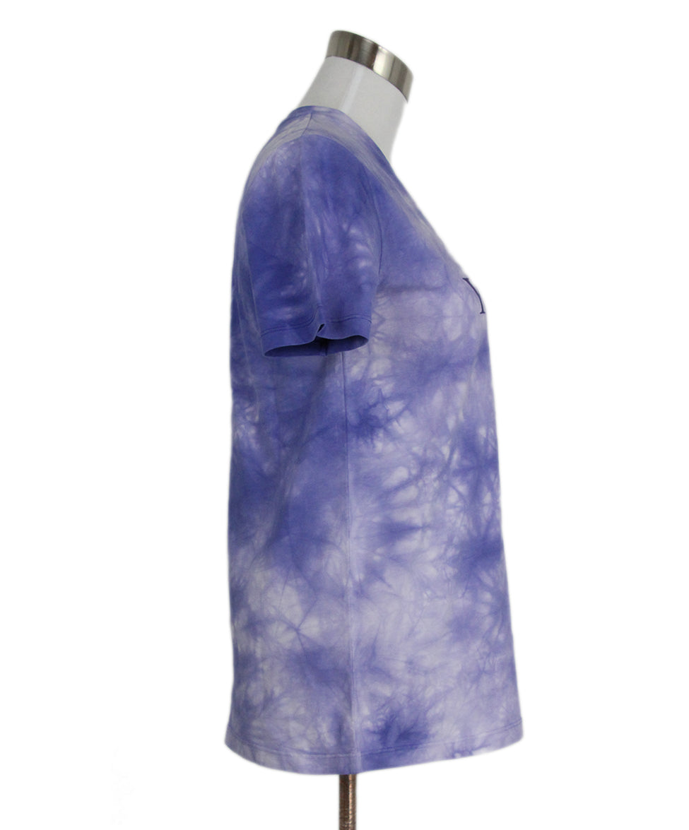 Paco Rabanne Purple Tie Dyed Cotton Top T-shirt 2