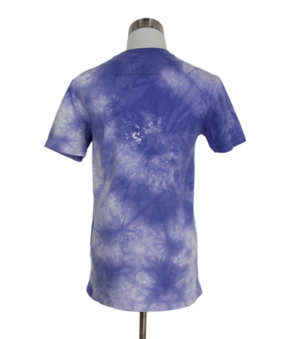 Paco Rabanne Purple Tie Dyed Cotton Top T-shirt 3