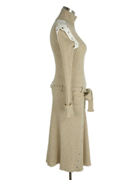 Paco Rabanne  Tan Virgin Wool Sweater Dress sz. 2 | Paco Rabanne