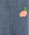 Paige Blue Denim Pants with Floral Applique 5