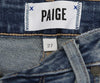 Paige Blue Denim Pants with Floral Applique 3