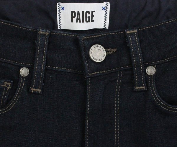 Paige Blue Cotton Spandex Dark Pants 3