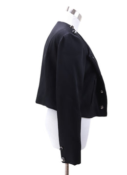 Pamella Roland Black Viscose Button Jacket 1
