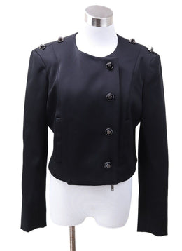 Pamella Roland Black Viscose Button Jacket