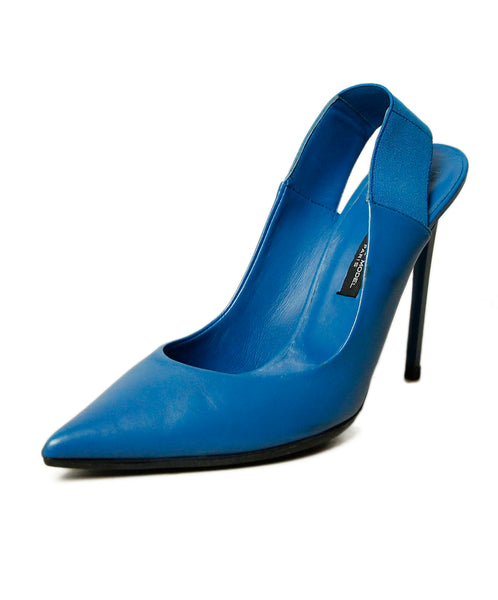 Paris Blue Leather Heels 1