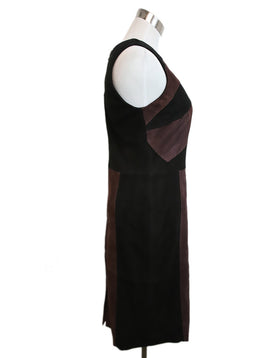 Parker Black Purple Suede Dress 2