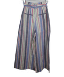 Parker White and Pastel Multi Colored Stripes Linen 1