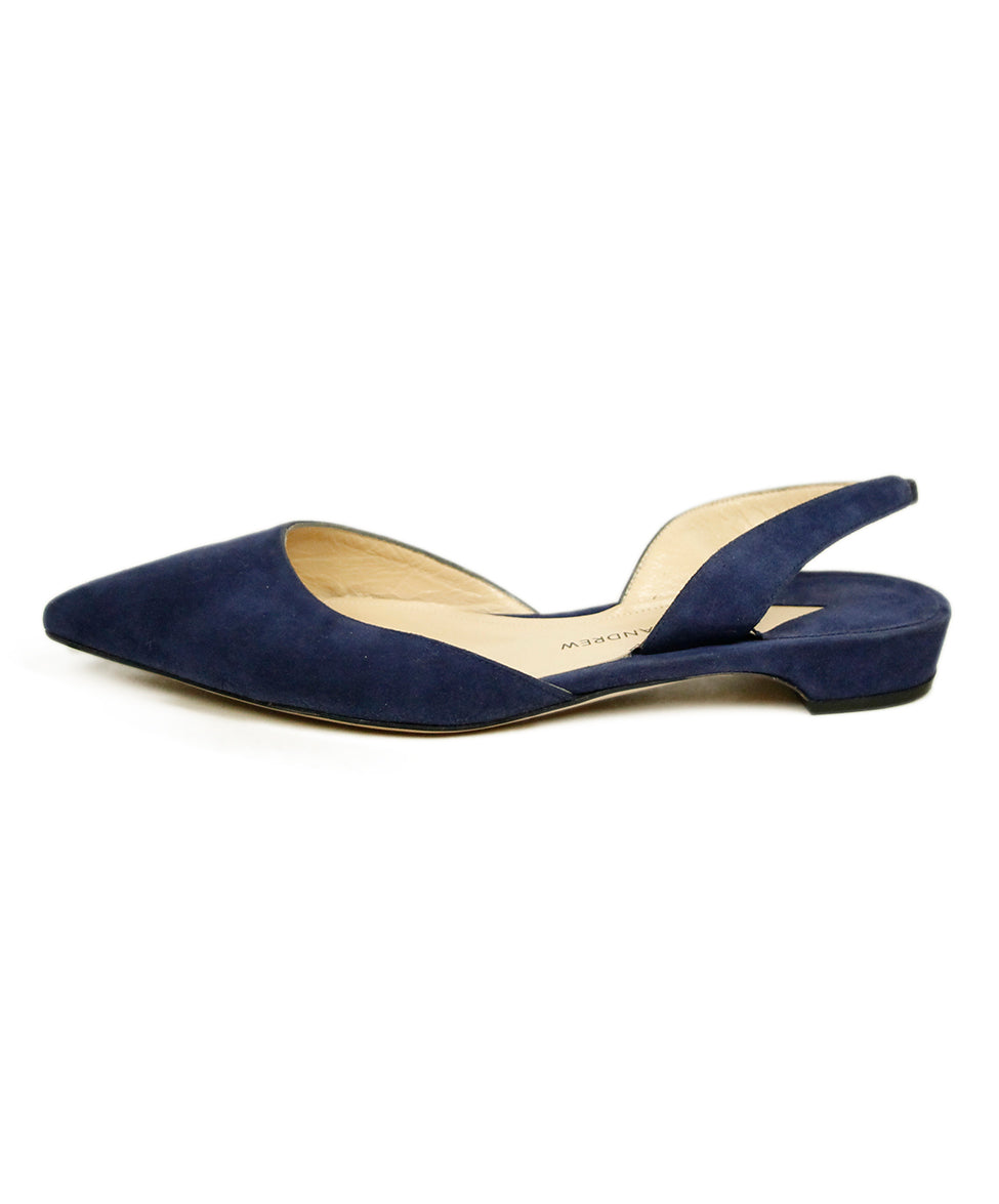 Paul Andrew Blue Suede Flats 2