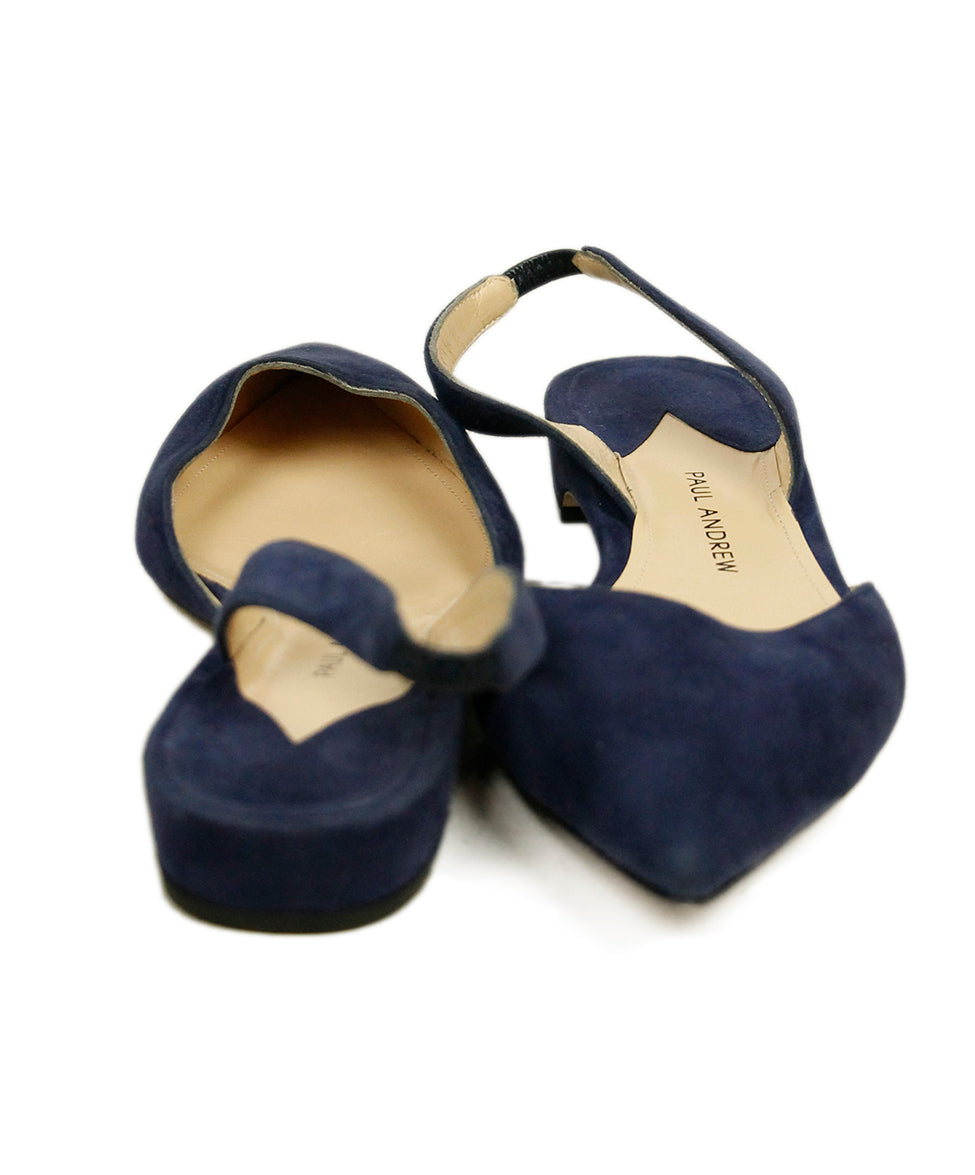 Paul Andrew Blue Suede Flats 3