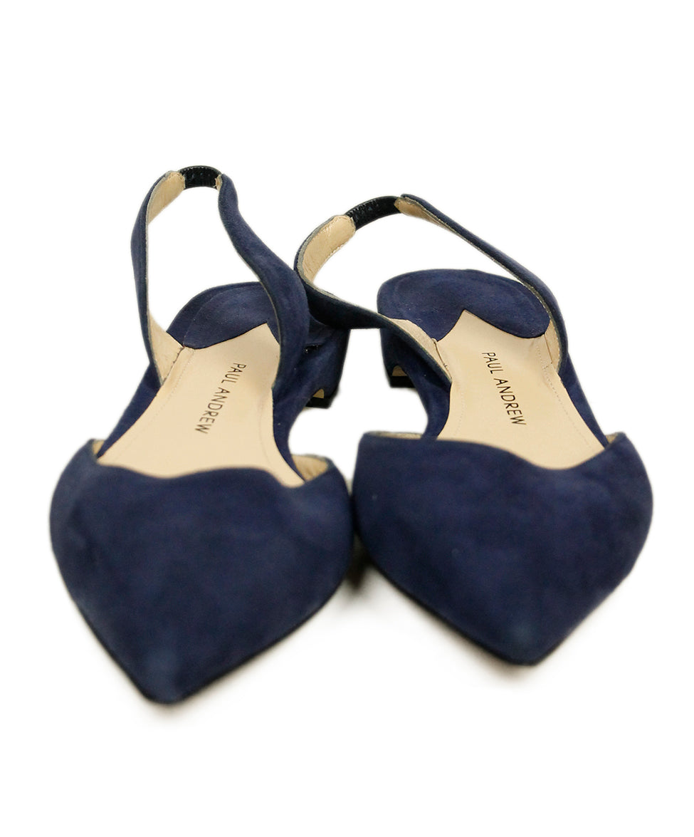 Paul Andrew Blue Suede Flats 4