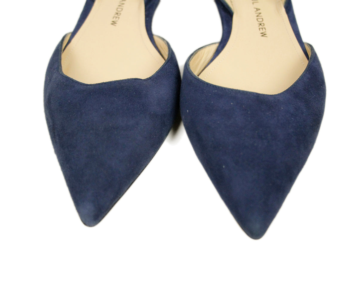 Paul Andrew Blue Suede Flats 7