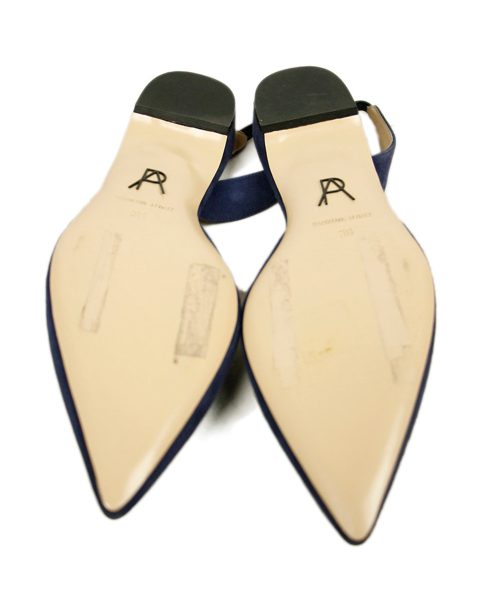 Paul Andrew Blue Suede Flats 5