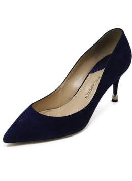 Paul Andrew Royal Blue Suede Heels 1