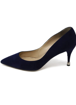 Paul Andrew Royal Blue Suede Heels 2