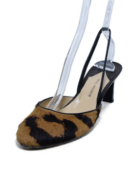 Paul Andrew Brown Tan Fur Sling Backs Heels 1