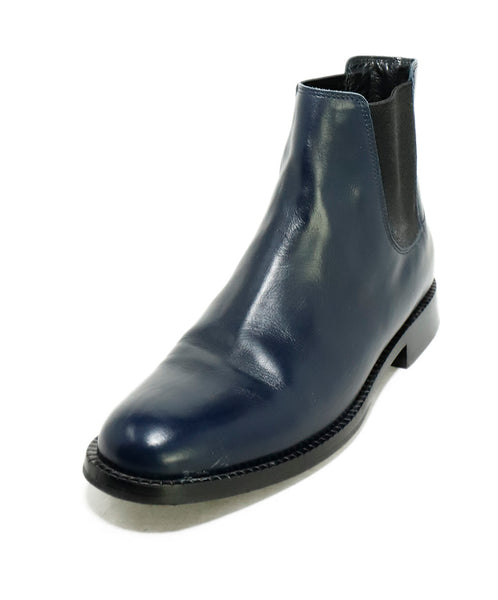Paul Smith Blue Navy Leather Chelsea Booties 1