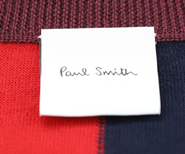 Paul Smith Red Merino Wool Navy Sweater 4