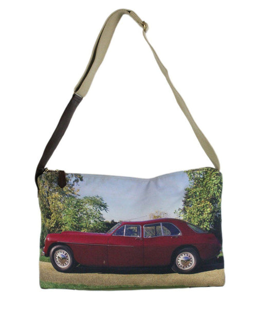 Paul Smith Green Blue Red Car Canvas Handbag 1