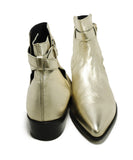 Paul Smith Metallic Gold Leather Booties 3