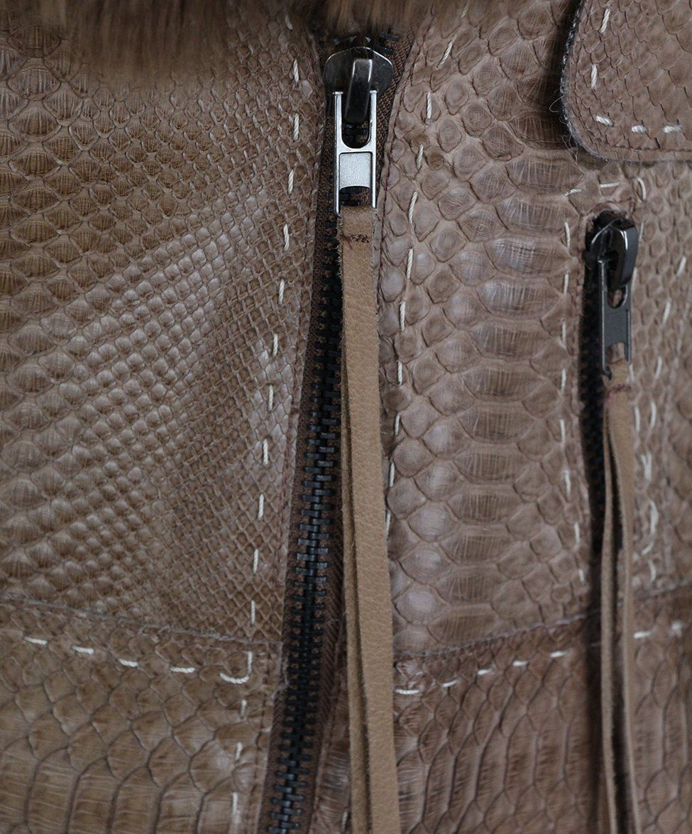 Pecoraro Brown Snake Skin Jacket 6