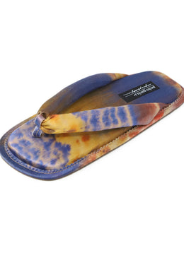 Pedro Garcia Blue Multi Color Satin Blend Sandals 1