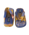 Pedro Garcia Blue Multi Color Satin Blend Sandals 3