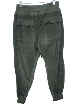 Perse Green Olive Corduroy Jogger Pants 2