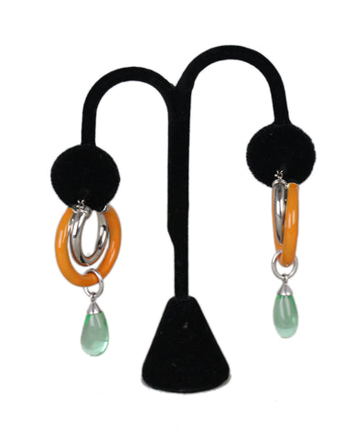 Peter Pilotto Orange Green Earrings 1