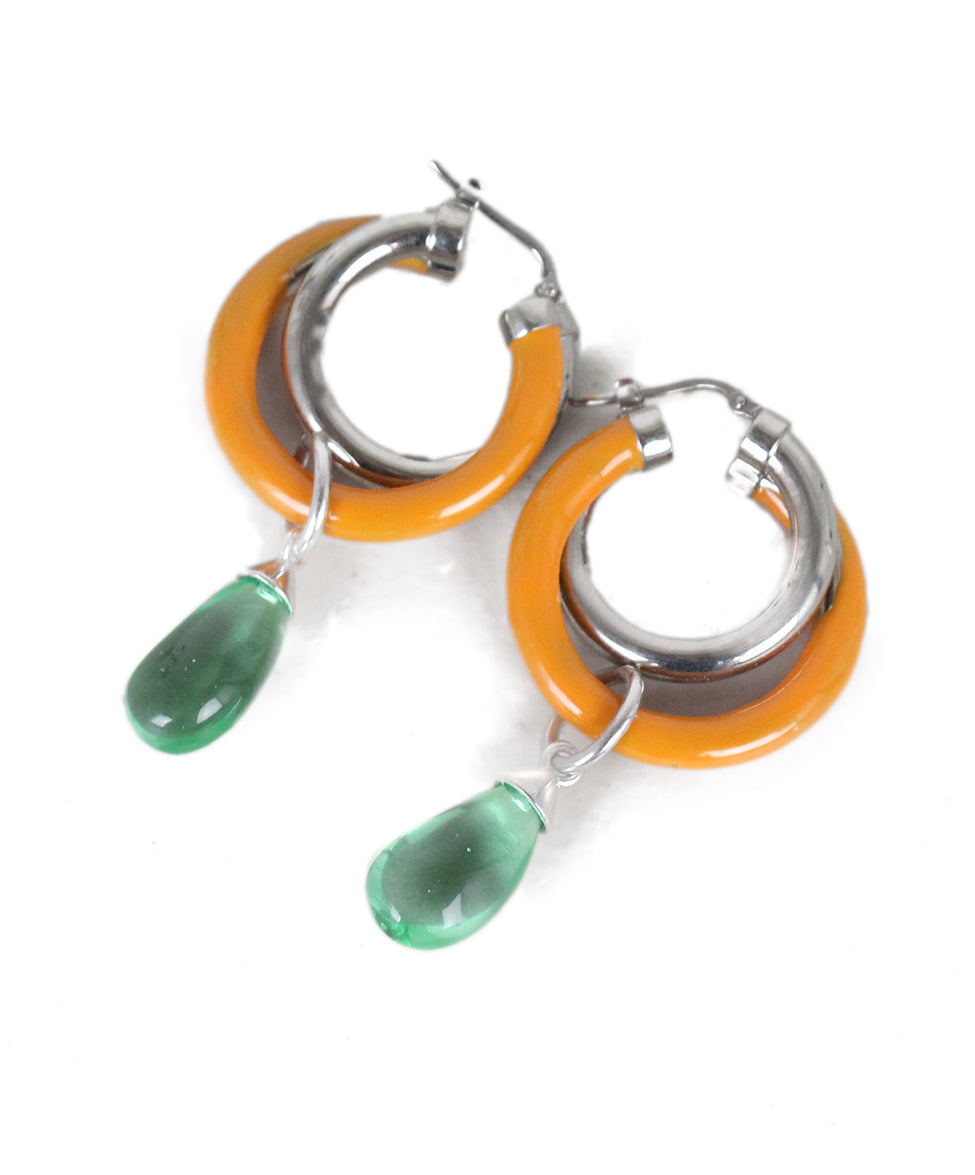 Peter Pilotto Orange Green Earrings 4
