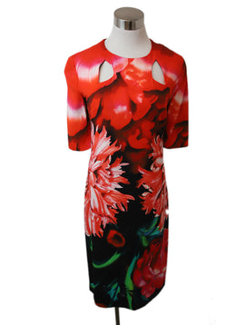 Peter Pilotto Red Black White Print Viscose Dress 1