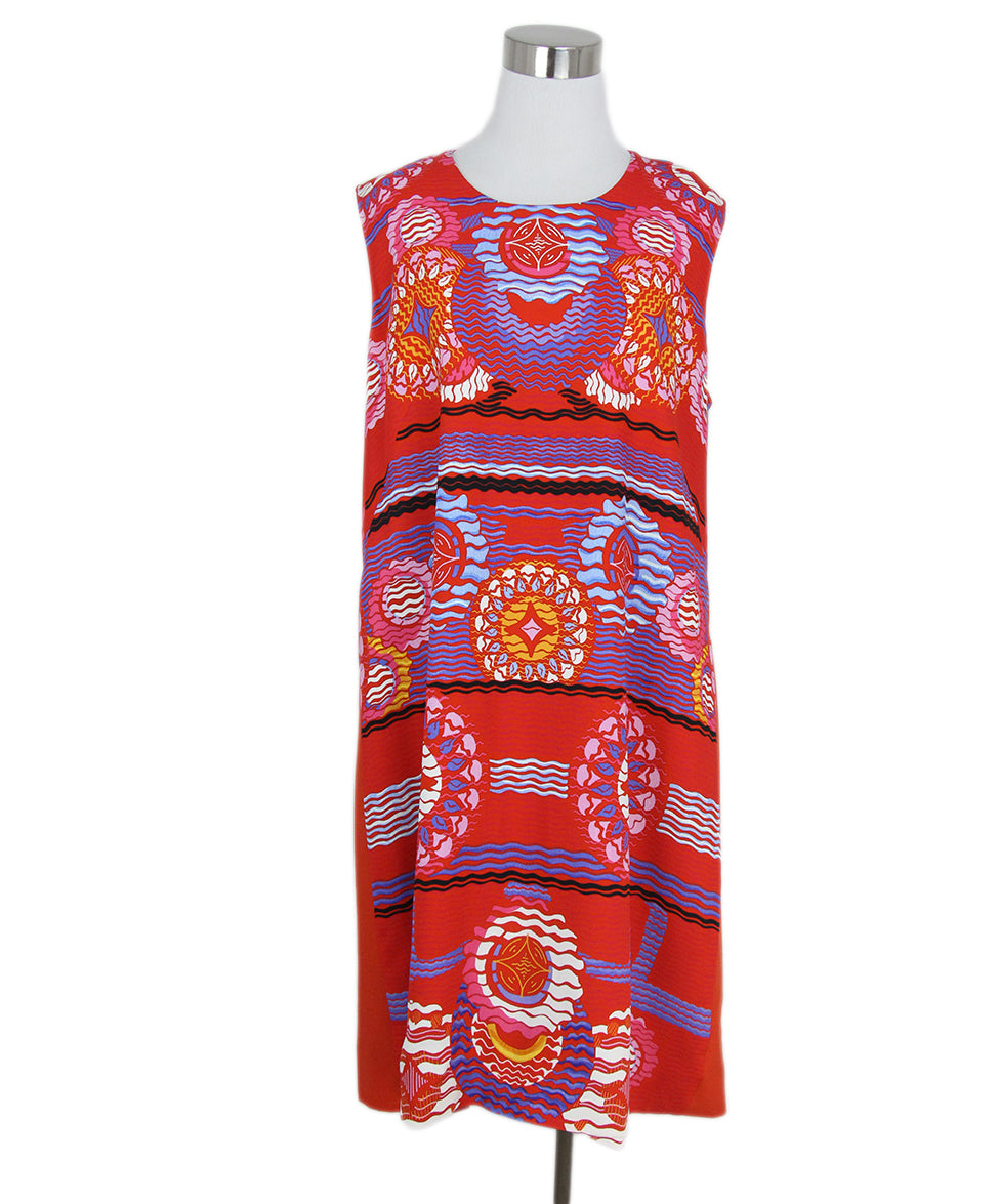 Peter Pilotto red blue multi print dress 1