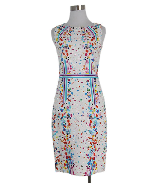 Peter Pilotto white orange blue multi dress 1
