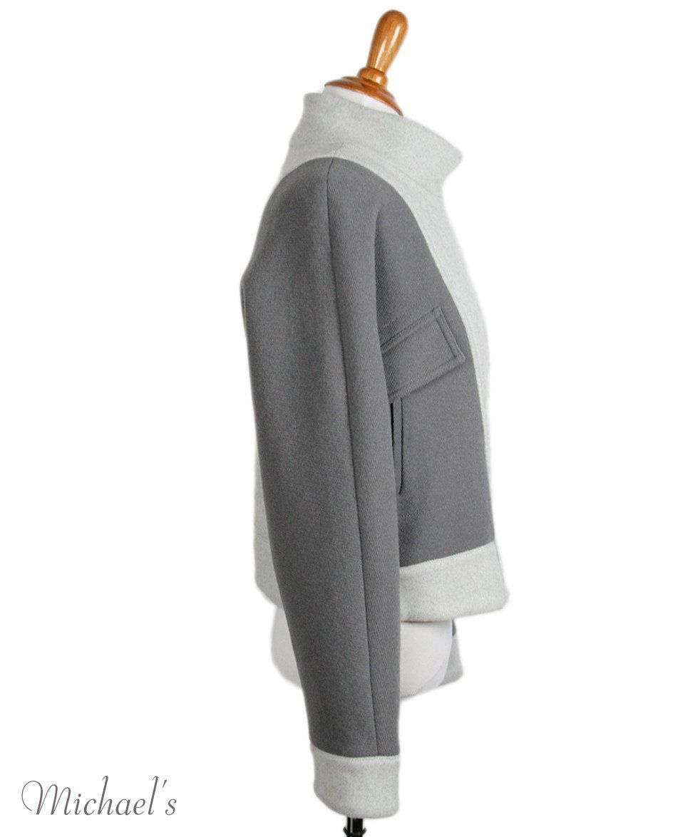 Phillip Lim Grey Wool Polyamide Jacket Sz 2 - Michael's Consignment NYC  - 2