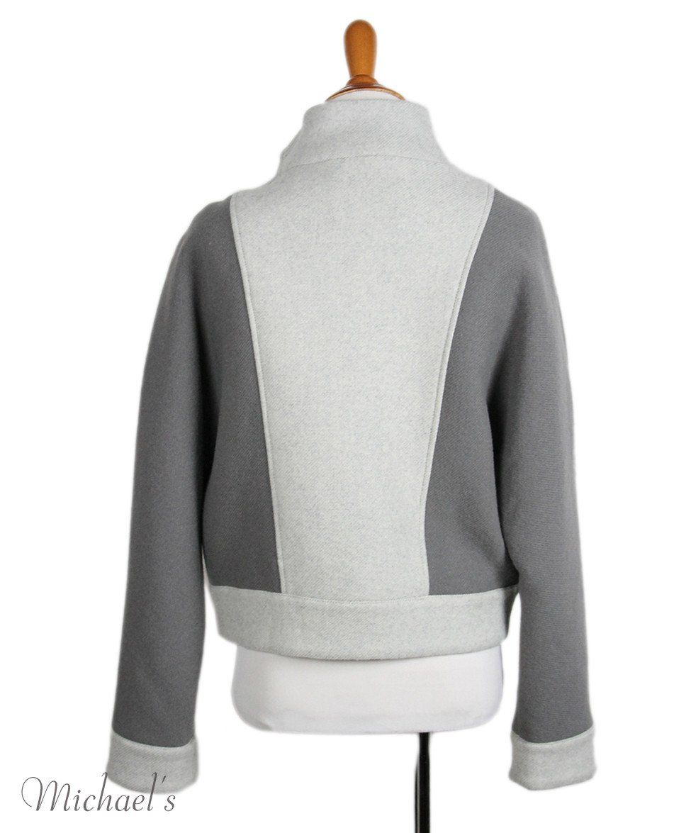 Phillip Lim Grey Wool Polyamide Jacket Sz 2 - Michael's Consignment NYC  - 3