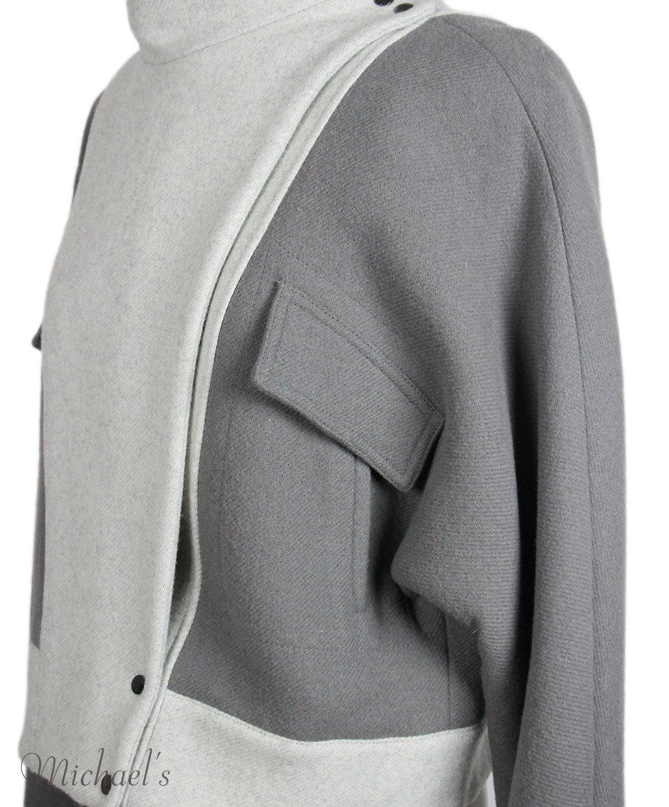 Phillip Lim Grey Wool Polyamide Jacket Sz 2 - Michael's Consignment NYC  - 4
